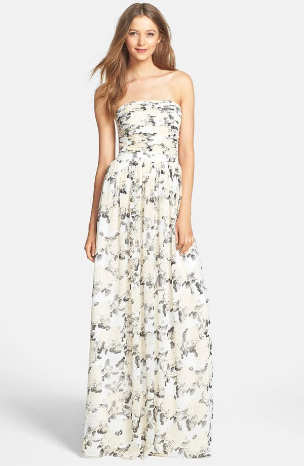 6e792cccb002d ERIN erin fetherston 'Isabelle' Print Chiffon Gown