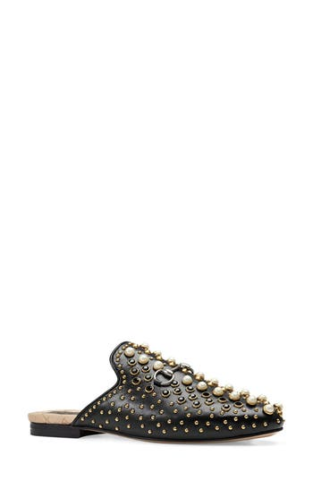 Women's Gucci Princetown Studded Loafer Mule