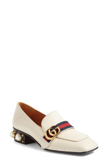 Women's Gucci Peyton Embellished Heel Loafer