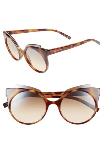 Women's Marc Jacobs 53Mm Oversized Sunglasses - Havana