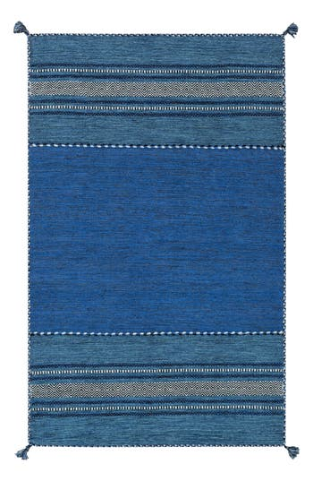 Surya Home Trenza Global Stripe Rug, Size Swatch - Blue
