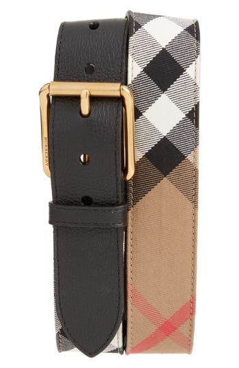 Burberry Mark House Check Belt