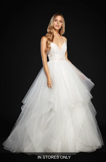 Hayley Paige Chandon Stardust Tulle Ballgown, Size IN STORE ONLY - Ivory