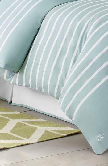 Jill Rosenwald Capri Stripe Bed Skirt, Size Twin - Blue/green