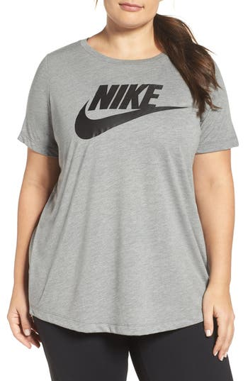 Plus Size Nike Essential Tee, Grey