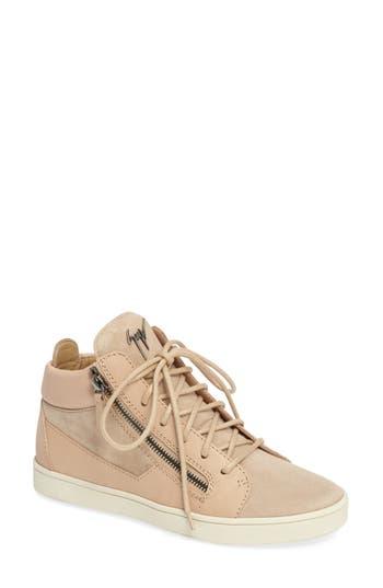 Giuseppe Zanotti High Top Sneaker, Pink