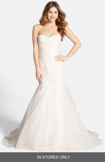Bliss Monique Lhuillier Tulle Trumpet Dress