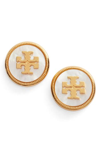 Women's Tory Burch Semiprecious Stone Stud Earrings