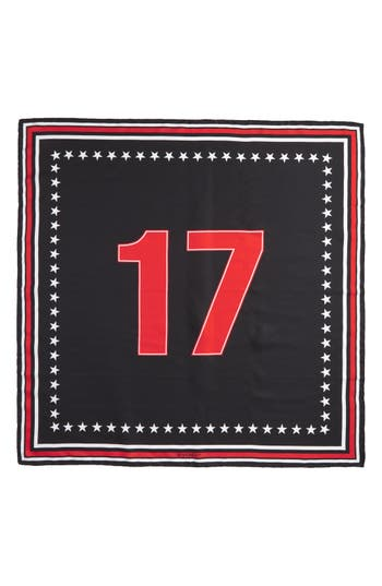 Women's Givenchy '17' Square Silk Scarf