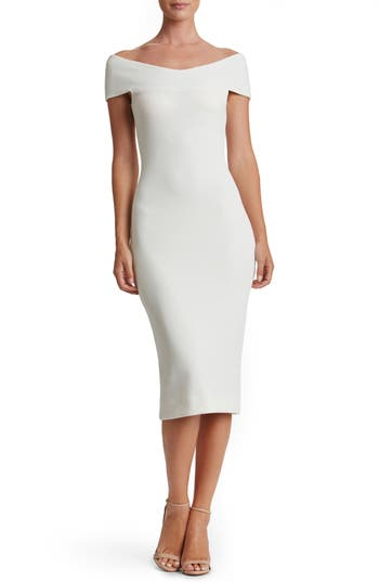 Dress The Population Claudette Textured Dress, Ivory