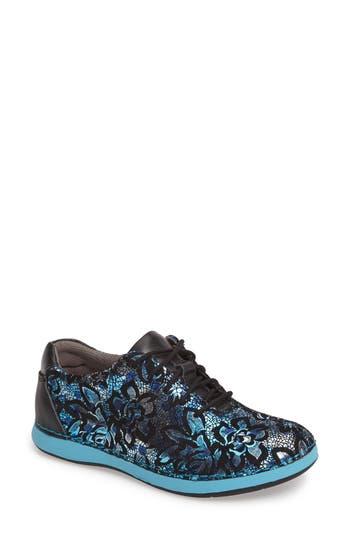 Alegria Essence Lace-Up Leather Oxford, Blue
