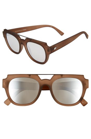 Le Specs La Habana 52Mm Retro Sunglasses - Mocha Rubber
