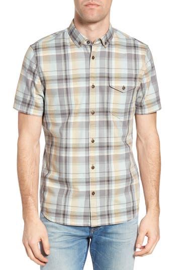 Men's Jeremiah Cecil Regular Fit Herringbone Plaid Sport Shirt