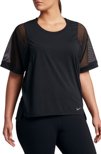 Plus Size Nike Breathe High/low Top