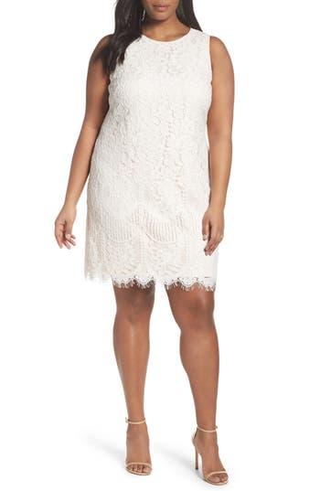 Plus Size Eliza J Lace Shift Dress