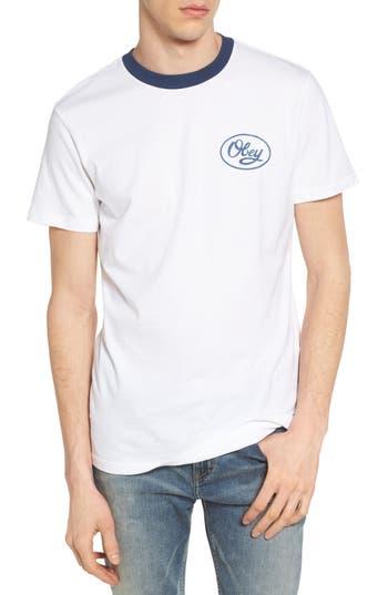 Obey Mendenhall Script Logo T-Shirt