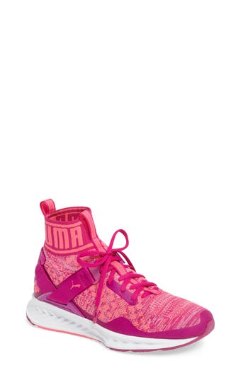 Kid's Puma Ignite Evoknit Sneaker, Size 5 M - Pink