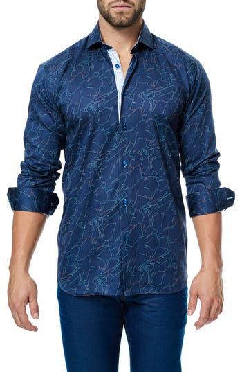 Men's Maceoo Class Zigzag Print Sport Shirt