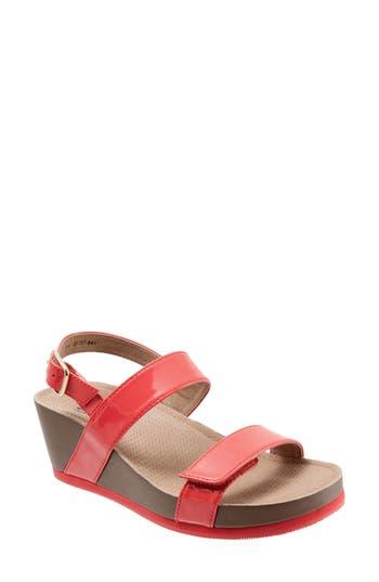 Softwalk Hart Wedge Sandal- Coral