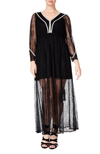 Plus Size Elvi Lace Maxi Dress