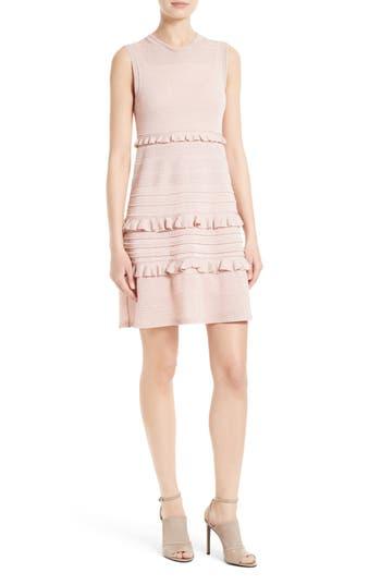 M Missoni Ruffle Metallic Mouline Knit Dress