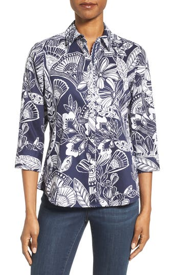 Foxcroft Floral Print Shirt