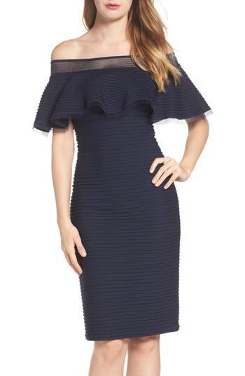 Tadashi Shoji Jersey Sheath Dress, Blue