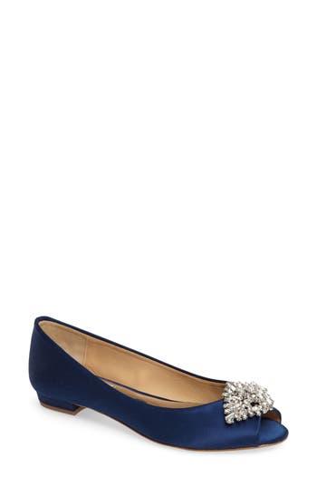 Women's Badgley Mischka Taft Peep Toe Flat
