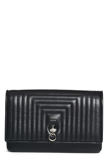 Fendi Quilted Leather Wallet On A Chain -
