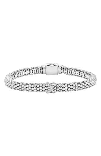 LAGOS Caviar 'Signature Caviar' Diamond Rope Bracelet