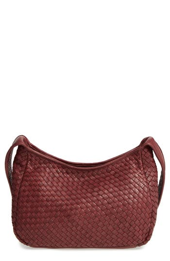 Robert Zur Small Delia Leather Hobo - Burgundy at NORDSTROM.com