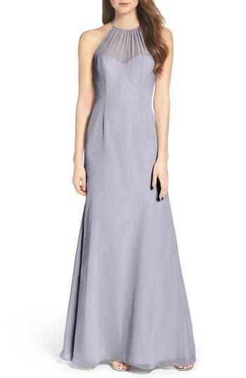 Wtoo Chiffon A-Line Gown, Purple