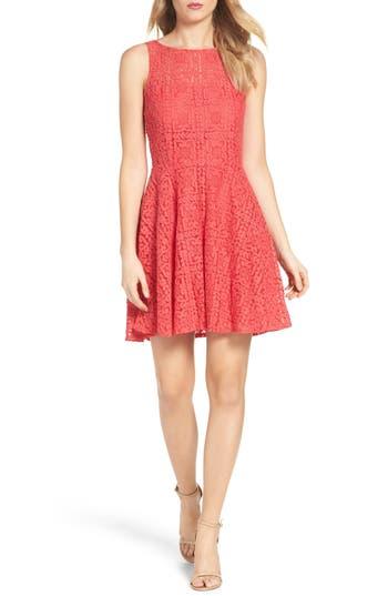 Women's Bb Dakota Paloma Lace Fit & Flare Dress