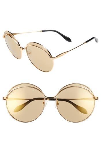 Sonix Oasis 6m Round Sunglasses - Gold Wire/ Sunburst