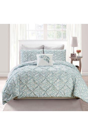 Vera Adith 6-Piece King Comforter Set, Size Full/Queen - Blue