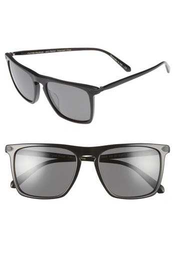 Men's Oliver Peoples Rue De Sevres 54Mm Polarized Sunglasses - Black