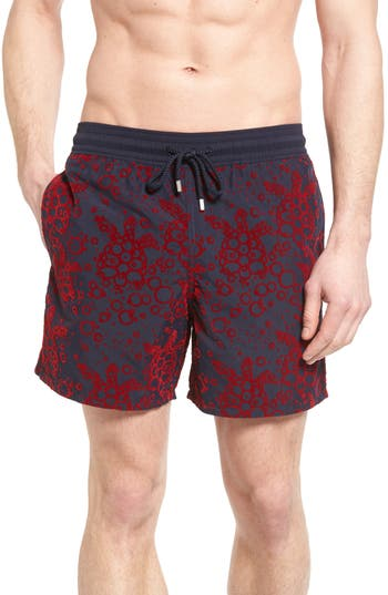 Vilebrequin Bubble Turtle Print Swim Trunks
