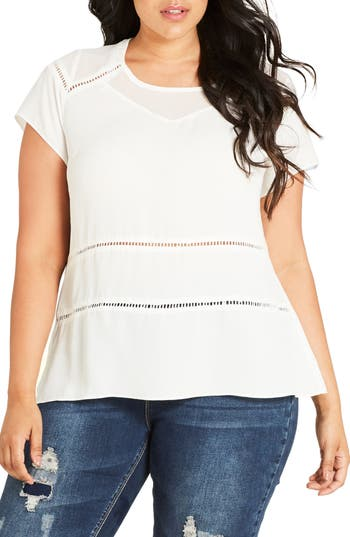 Plus Size Women's City Chic Night Out Top