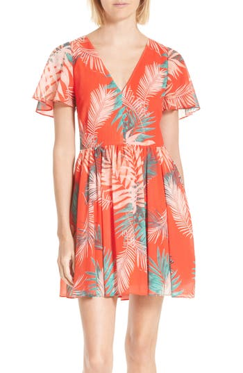 Women's Rebecca Minkoff Crosby Minidress, Size 2 - Coral