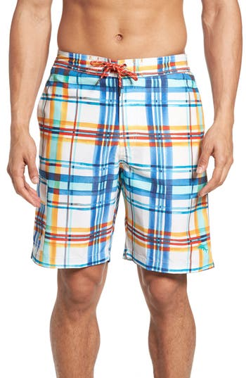 Tommy Bahama Baja Plaid Skills Board Shorts