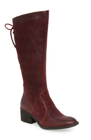 B?rn Felicia Knee High Boot, Regular Calf- Burgundy