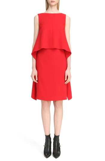 Givenchy Stretch Cady Cutaway Dress, 4 FR - Red