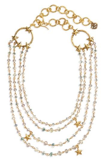 Women's Virgins Saints & Angels Coronation Crystal Magdalena Multistrand Necklace