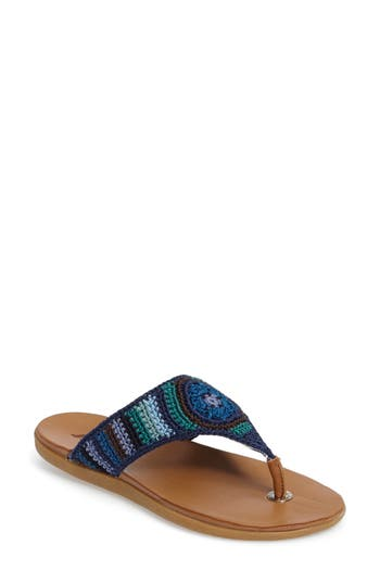 Sakroots Sarria Flip Flop, Blue
