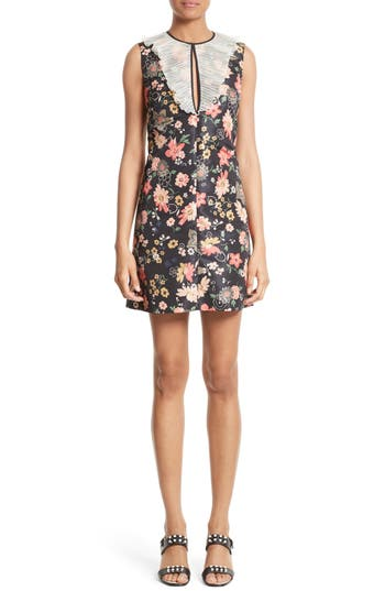 Red Valentino Chelsea Floral Print Dress, 8 IT - Black