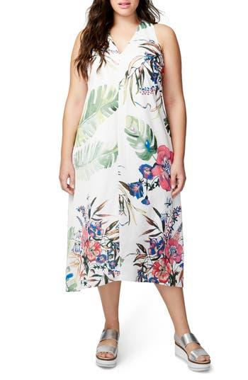 Plus Size Rachel Rachel Roy Print Maxi Dress, White