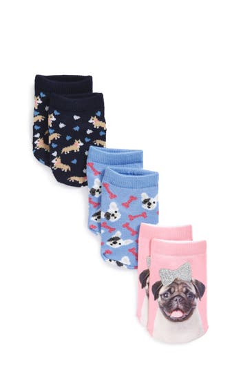 Girls Tucker  Tate Assorted Dog 3Pack Socks