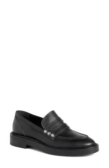 Balenciaga Arena Studded Loafer, Black