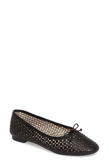 Louise Et Cie Congo Perforated Flat- Black