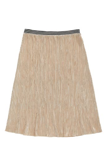 Girl's Treasure & Bond Metallic Midi Skirt